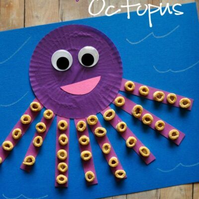Cupcake Liner Octopus Kids Craft