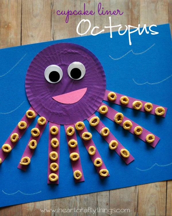 Cupcake Liner Octopus Kids Craft I Heart Crafty Things