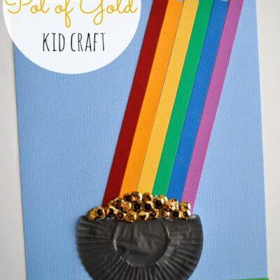 Cupcake Liner Pot of Gold Kid Craft