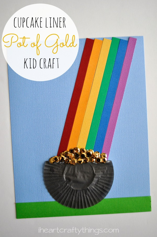 Cupcake Liner Pot Of Gold Kid Craft I Heart Crafty Things