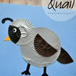Cupcake Liner Quail Kids Craft