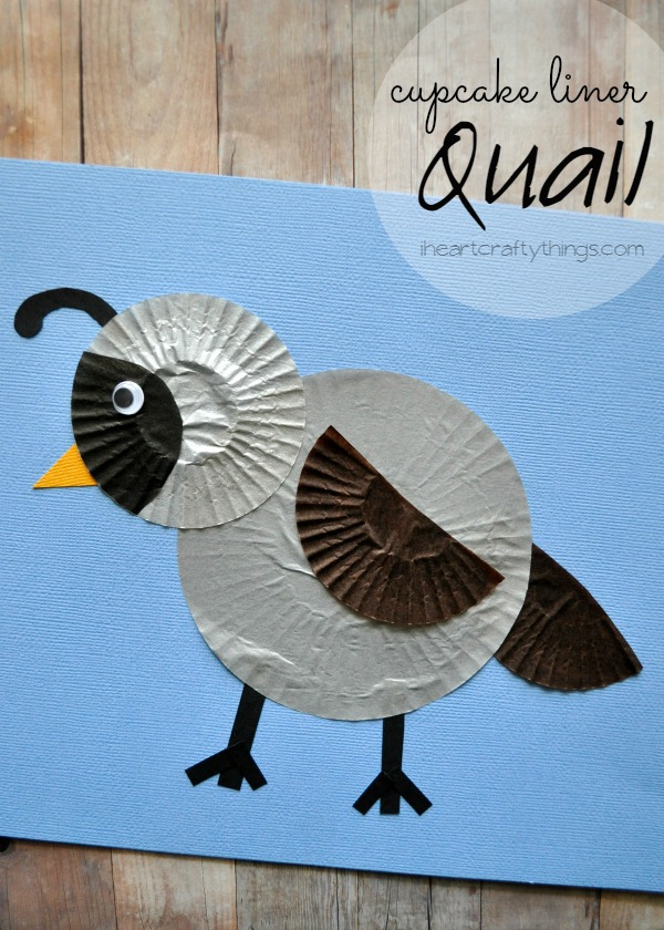 Cupcake Liner Quail Kids Craft I Heart Crafty Things