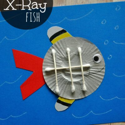 Cupcake Liner X-Ray Fish Craft