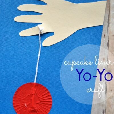 Cupcake Liner Yo-Yo Kids Craft