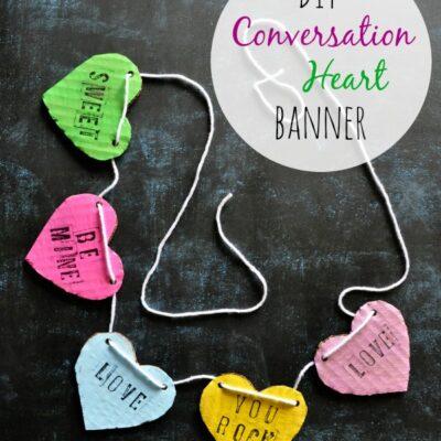 DIY Valentine's Day Conversation Heart Banner