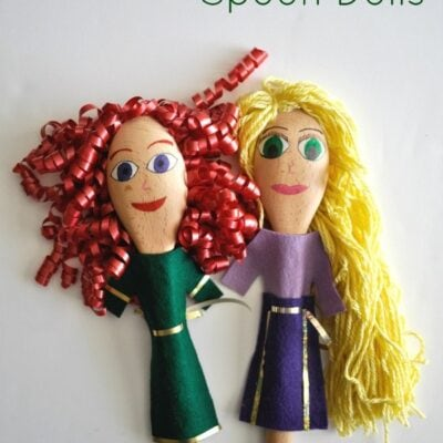 Merida and Rapunzel Disney Princess Spoon Dolls