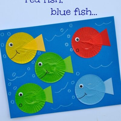 One Fish Two Fish Red Fish Blue Fish Dr. Seuss Craft