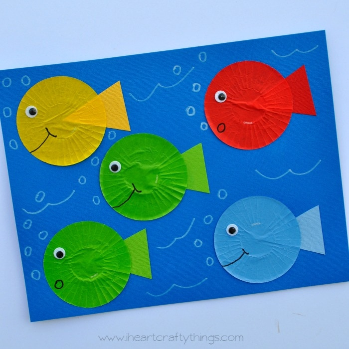 Fish Craft Ideas For Kids Part - 46: One Fish Two Fish Red Fish Blue Fish Dr. Seuss Craft