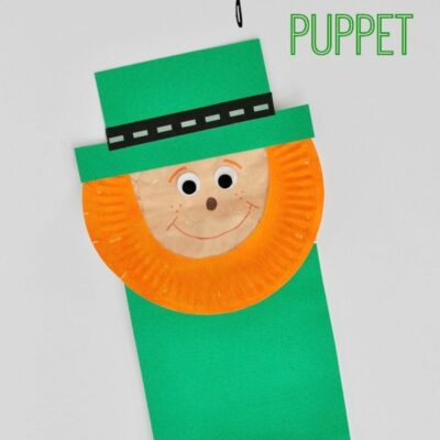 Paper Bag Leprechaun Puppet Kids Craft