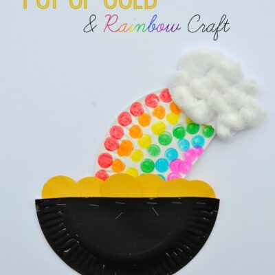 Paper Plate Pot of Gold and Rainbow Craft