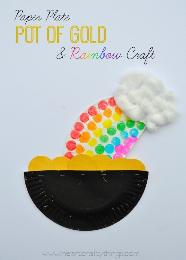 pot of gold craft paper plate pot of gold and rainbow craft i crafty 5249