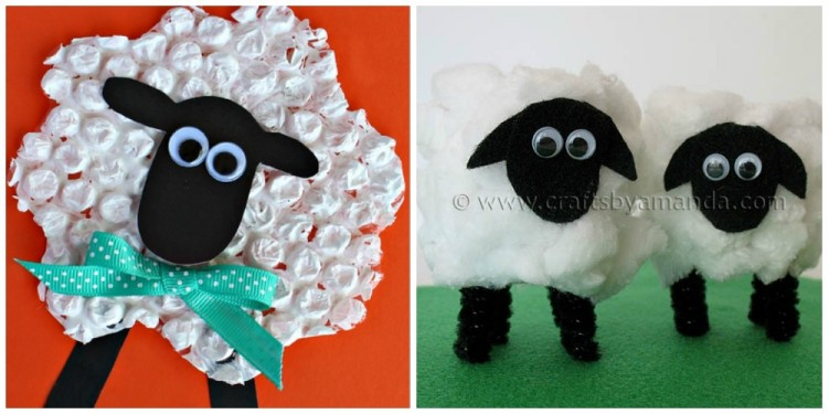 Bubble Wrap Sheep | Crafty Morning & 10 Sheep Crafts for Kids | I Heart Crafty Things