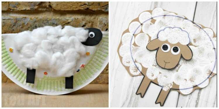10 sheep crafts for kids i heart crafty things for Cardboard sheep template