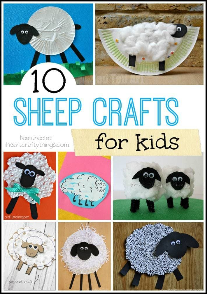 10 Sheep Crafts for Kids | I Heart Crafty Things