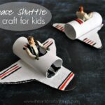 A Happy Homemade Space Shuttle Craft