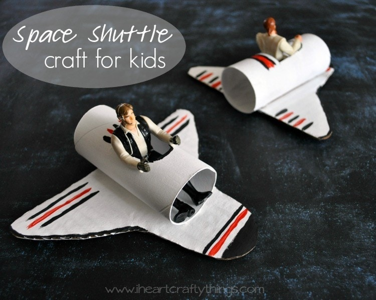 A Happy Homemade Space Shuttle Craft | I Heart Crafty Things