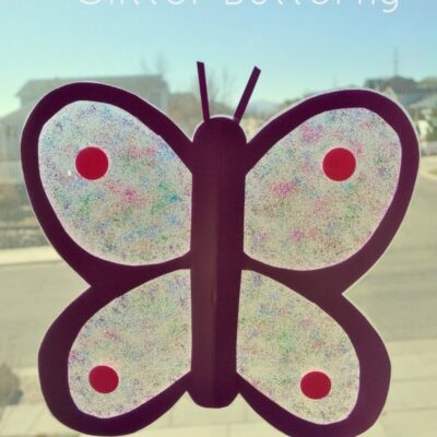 Stained Glass Glitter Butterfly Kids Craft