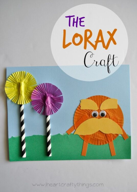 The Lorax Dr Seuss Kids Craft I Heart Crafty Things