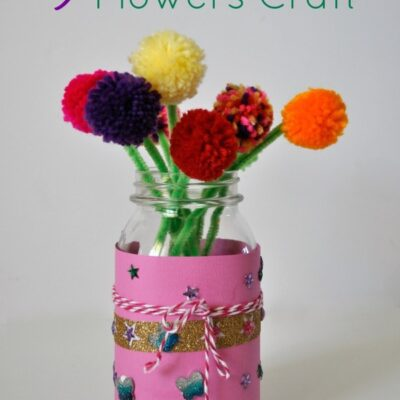 Yarn Pom Flowers Kid Craft with Creatify Products