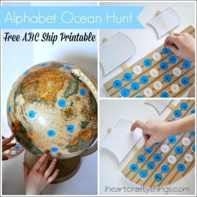 Preschool Alphabet Ocean Hunt (Free ABC Ship Printable)