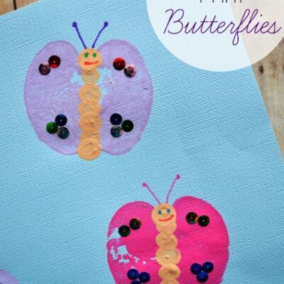 Apple Print Butterfly Kids Craft