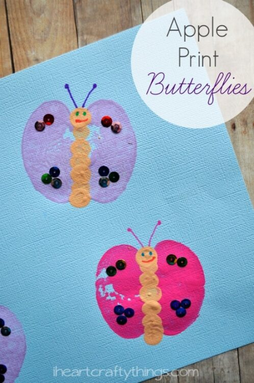 Apple Print Butterfly Kids Craft I Heart Crafty Things