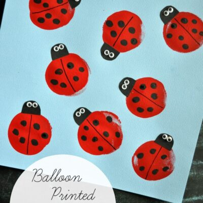 Balloon Print Ladybug Kids Craft