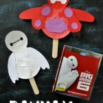 Disney Big Hero 6 Movie Night with Baymax Stick Puppet Kids Craft and Baymax Marshmallow Activity