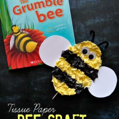 Tissue Paper Bee Kids Craft (with Free Pattern Printable)