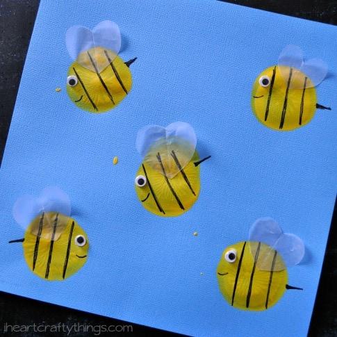 Bee Happy Preschool Craft