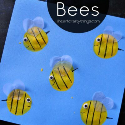 Balloon Print Bee Kids Craft