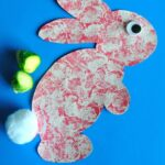 Brussels Sprouts Stamped Bunny Craft for Kids