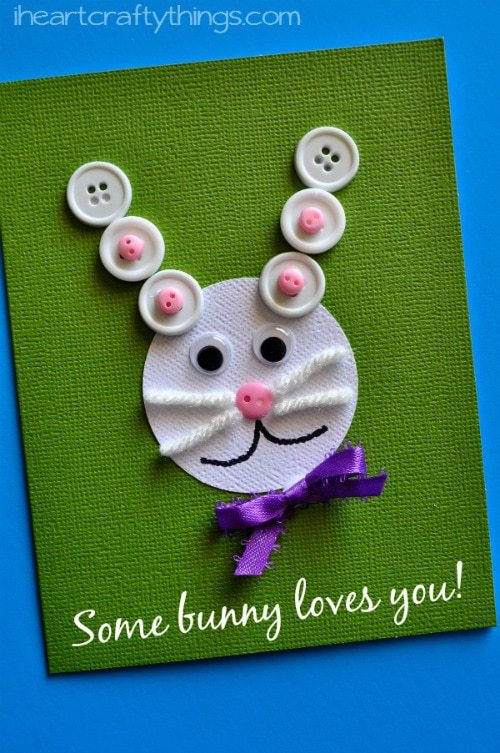 Easter Kids Craft Some Bunny Loves You Card I Heart Crafty Things