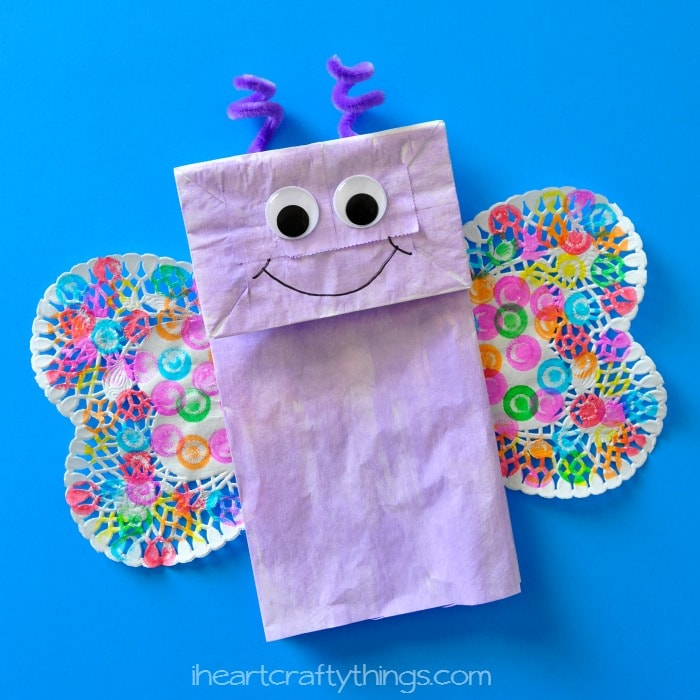 How to Make a Paper Bag Butterfly Kids Craft  sc 1 st  I Heart Crafty Things & Paper Bag Butterfly Kids Craft | I Heart Crafty Things