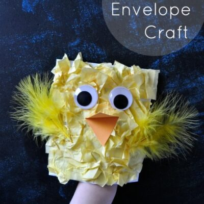 Spring Chick Craft for Kids from Envelope
