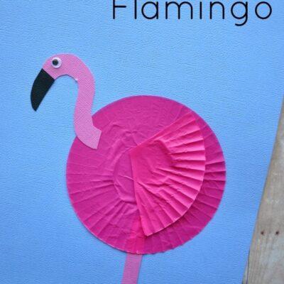 Cupcake Liner Flamingo Kids Craft