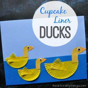 Cupcake Liner Duck Craft for Kids