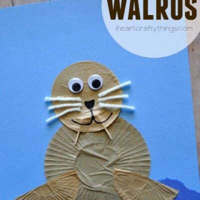 Cupcake Liner Walrus Kids Craft