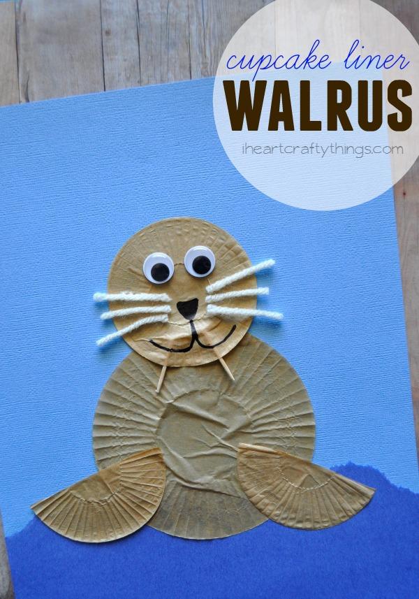 Cupcake Liner Walrus Kids Craft I Heart Crafty Things
