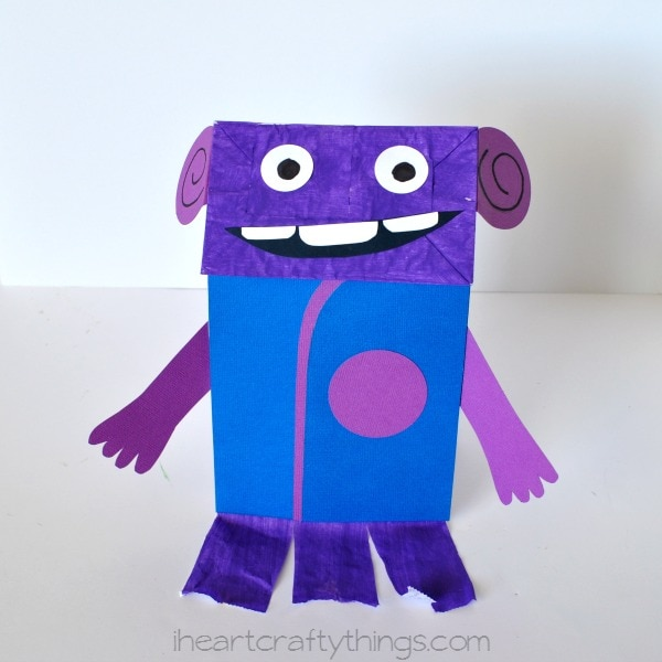 Dreamworks Home Inspired Paper Bag Oh Puppet Kids Craft