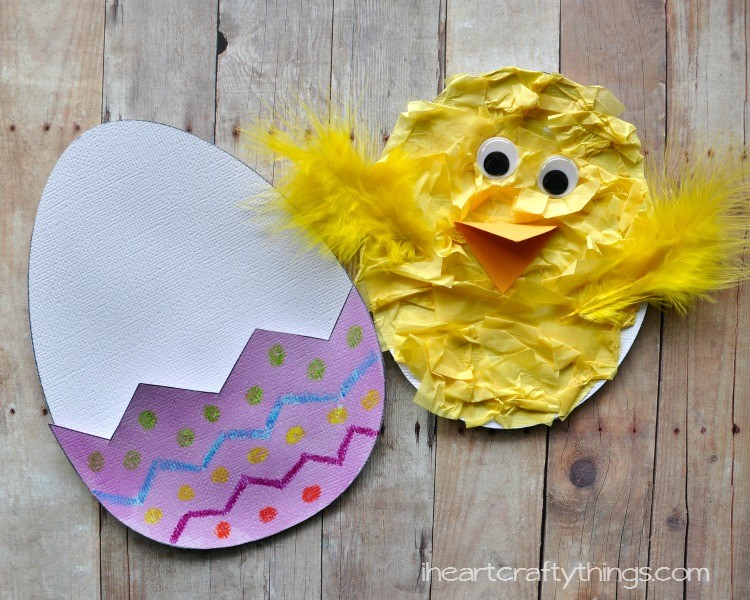 Hatching chick craft with free printable pattern i