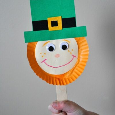 Leprechaun Stick Puppet St. Patrick's Day Kids Craft