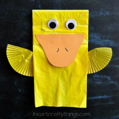 Cute Paper Bag Duck Kids Craft