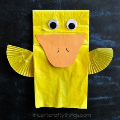 Cute Paper Bag Duck Kids Craft