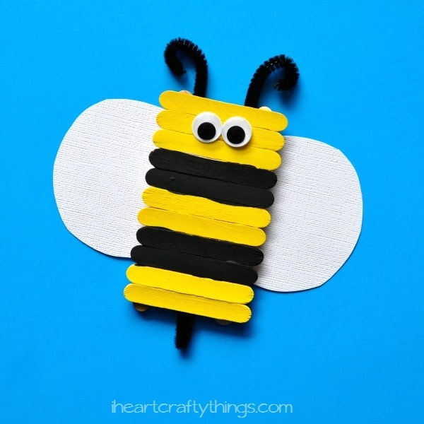 Simple And Cute Popsicle Stick Bee Kids Craft I Heart Crafty Things
