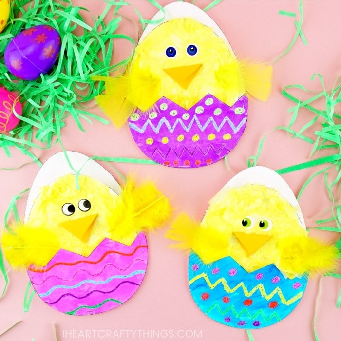 Hatching Chick Craft With Free Printable Pattern