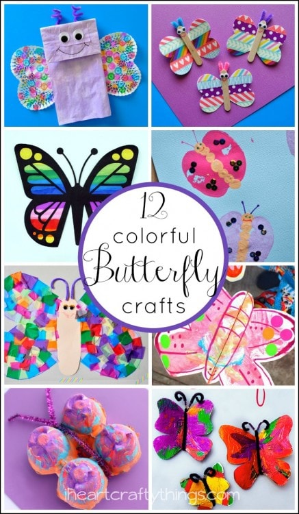 12 colorful butterfly crafts for kids i heart crafty things