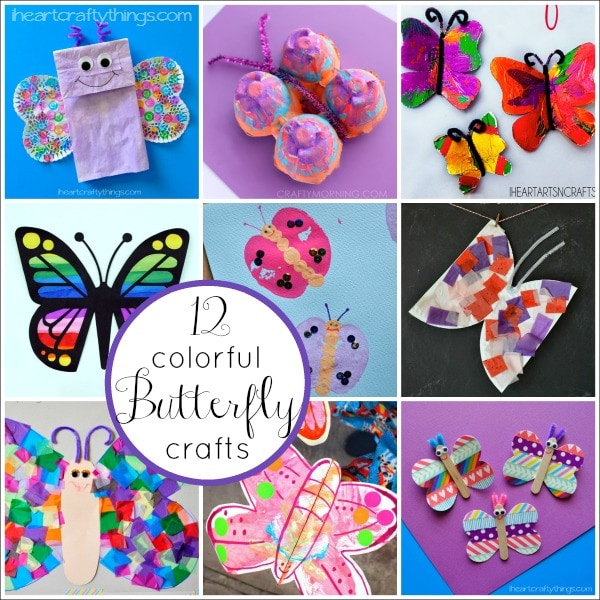 12 Colorful Butterfly Crafts for Kids | I Heart Crafty Things