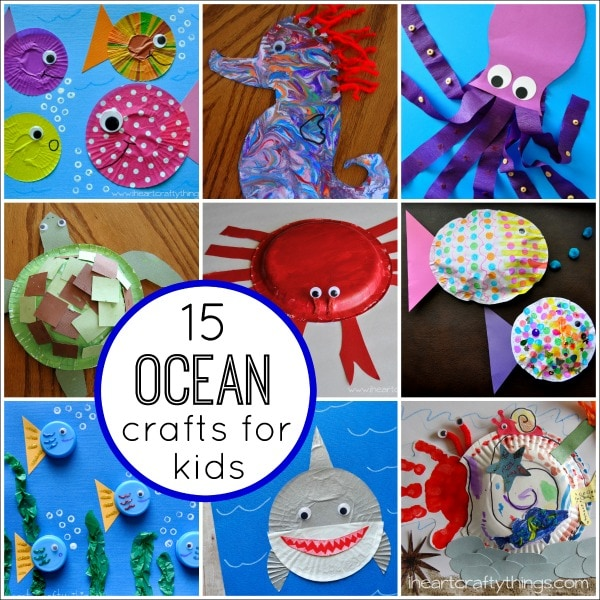 15 Fantastic Ocean Themed Kids Crafts