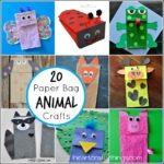 20 Paper Bag Animal Crafts for Kids